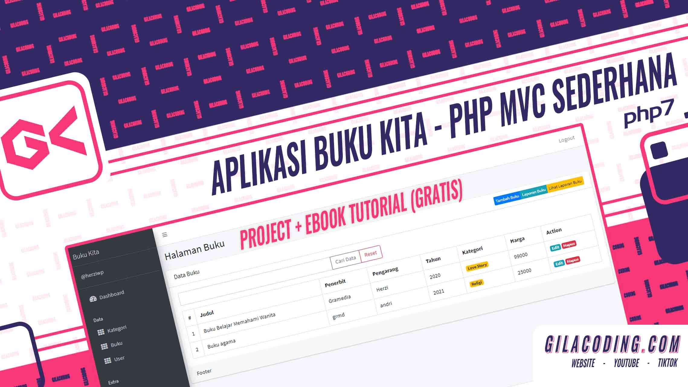 Contoh dan Tutorial Project PHP OOP MVC Sederhana - Aplikasi Buku Kita