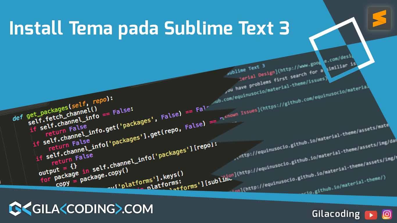 Install Tema Material pada Text Editor Sublime Text 3